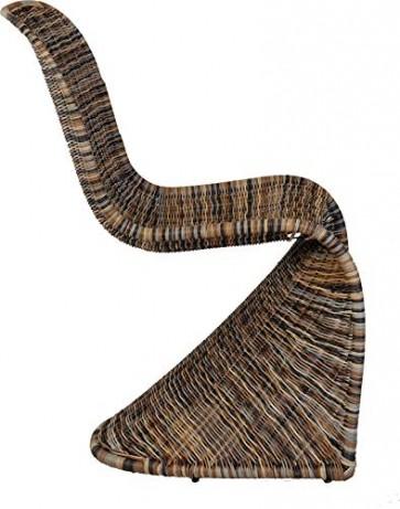 Schwingstuhl, Esszimmer-Stuhl aus Rattan, Multicolor/Esszimmerstuhl Korb Schwingstuhl/Bunt Esszimmer Stühle Schwinger