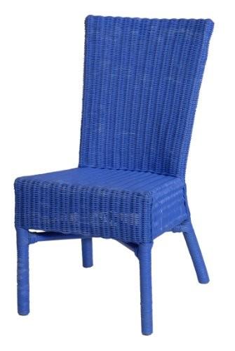 korb.outlet Esszimmerstuhl Sandy aus Rattan Farbe Blau DE