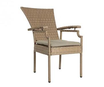 Famous Home GRASEKAMP Qualität seit 1972 2 Poly-Rattan Gartensessel Brasil Gartenmöbel Relaxsessel mit Sitzkissen