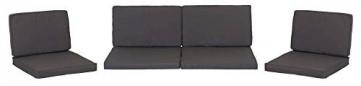 Beo 120gr. PolyesterPY304 Lounge Ersatzkissen Set Monaco Bezug wasserabweisend, anthrazit