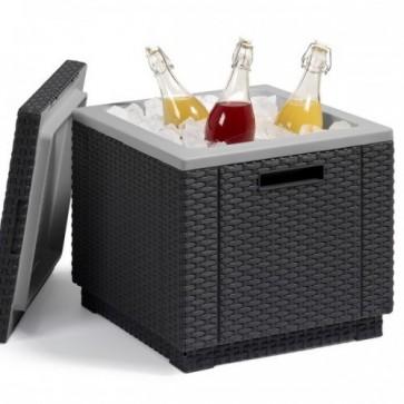 ICE-Cube Kühlbox, graphit Geflechtoptik