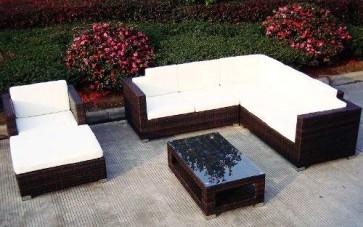 Baidani Designer Lounge-Wohnlandschaft Sunset, 20-teilig, braun meliert