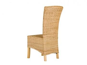 massivum Stuhl Nico 45x108x53 cm Rattan braun lackiert