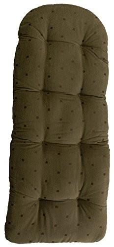 Schaukelstuhl Auflage Oliv mit Muster, Polster, Kissen 120x50 deutsche Herstellung, Auflagekissen / Kissenauflage für Schaukelsessel