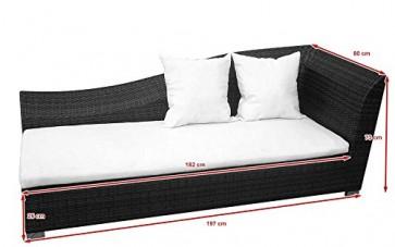 Baidani Designer Lounge Sofa Diva, braun meliert