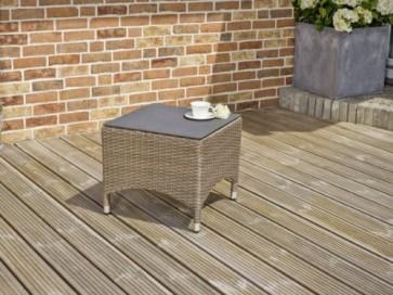 Greemotion Beistelltisch mit Spraystoneplatte Bardolino, Braun, ca. 50 x 50 x 44 cm