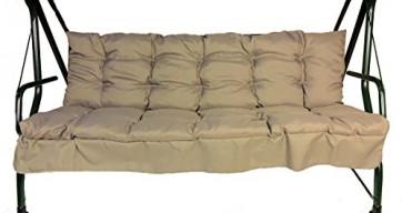 Ersatzpolster , Auflage , Polster , Kissen für Hollywoodschaukel , Set Sitz und Rückenpolster , abgesteppt , Fb. soft gray . B 175 cm