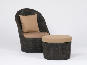 ZEBRA - Carlos Relax / Lounge Sessel + Hocker + Kissen