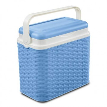AK Sport Kühlbox 24 Ltr Rattan Coolbox, Blau