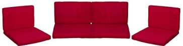 Beo 120gr. PolyesterPY305 Lounge Ersatzkissen Set Monaco Bezug wasserabweisend, rot