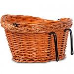 Fahrradkorb Bastkorb Fahrrad Korb geflochten Weidenkorb Fahrradzubehör Tragfähigkeit ca. 5-7 kg