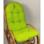 Auflage / Polster für Schaukelstuhl , Liegestuhl , Ersatzpolster Gr. 130 x 50 x 12 cm, Fb. hellgrün