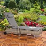 Loungeliege Rattan Sonnenliege Polyrattan Lounge Gartenliege verstellbar