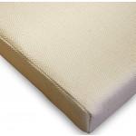KMH®, Sitzkissen aus Baumwolle (Natur) mit Schleifenbändern (besonders gut geignet für Rattanstühle) (#205199)