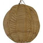 Guru-Shop Deckenlampe / Deckenleuchte Conrado - in Bali Handgemacht aus Naturmaterial, Rattan, 50x50x50 cm, Dekolampe Stimmungsleuchte