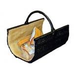 BOOGARDI - Handgeflochtener Weidenkorb 50 x 35 cm als dekorativer Kaminholzkorb oder Einkaufskorb