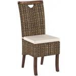 WSV : -60% 6X Rattanstühle Racine Mokka - Essgruppe - Esszimmerstühle braun inkl. Sitzkissen