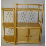 "Regal Rattan Ramin neu "" made in Germany "" in honig Ecke"