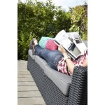 Allibert Lounge Sofa California 3-Sitzer, graphit/cool grey