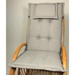 Polster für Schaukelstuhl , Liegestuhl , Hochlehner Auflage 120 x 52 cm , Loneta grau