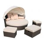 Design Polyrattan Lounge Insel Loungeset Loungeinsel St. Tropez (Anthrazit)