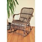 "Rattan Schaukelstuhl Rocking Chair Ebony"" , Korbfarbe darkbrown"