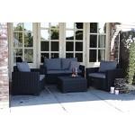 Allibert Lounge Sofa California 2-Sitzer, graphit/cool grey