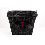Fahrrad Korb vorn abnehmbar Rattan Optik Einkaufs Easy Click Citykorb schwarz