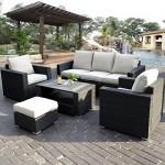 17tlg. Lounge Set Gartenmöbel Loungemöbel Polyratten Sitzgruppe Gartengarnitur Möbelgarnitur