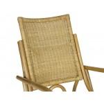 massivum Stuhl 59x93x105 cm Rattan braun lackiert