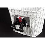 Fahrrad Korb Klicksystem Einkaufskorb mit Halter vorne Rattan Optik weiß