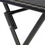 Nexos Tisch in Rattan-Optik Balkontisch Gartentisch Klapptisch schwarz 61 x 61 x 75 cm eckig Campingtisch Kunststoff robust stabil wetterfest pflegeleicht klappbar