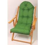 Auflage / Polster für Liegestuhl , Schaukelstuhl , Ersatzpolster Gr. 130 x 50 x 12 cm, Fb. dunkelgrün