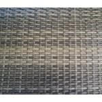 Gartenbank, 2-Sitzer mit einem Aluminiumgestell in grau und Polyrattan-Bespannung in dunkelgrau-bicolor, Maße: B/H/T ca. 118/87/59 cm