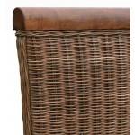 KMH®, Esszimmerstühle Larissa aus Rattangeflecht in braun (#205165)