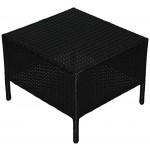 KMH®, Beistelltisch Holme aus schwarzem Polyrattan (#106067)