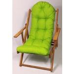 Auflage / Polster für Liegestuhl , Schaukelstuhl , Ersatzpolster Gr. 130 x 50 x 12 cm, Fb. hellgrün
