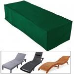 WOLTU® Schutzhülle für Sonnenliege Abdeckhaube Abdeckung Gartenliege Tisch Hülle Haube , 218x77x55cm