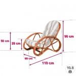 WEIHNACHTEN: -36% Relaxsessel - PANAMA-Liegestuhl mit Fußhocker-inkl.Polsterauflagen-Braun
