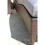 PolyRattan Sonnenliege DEUTSCHE MARKE -- EIGNENE PRODUKTION -- 8 Jahre GARANTIE auf UV-Beständigkeit Garten Möbel incl. Polster, Tisch+Glasplatte 2 Sonneliegen im Set Belastbar bis 180Kg Ragnarök-Möbeldesign (bi-color braun) Gartenmöbel