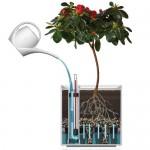 Flower lover Pflanzgefäß mit Bewässerungssystem Triangel, Weiß, 21 x 21 x 21 cm