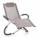 Blumfeldt Chilly Billy • Gartenliege • Liegestuhl • Schaukelliege • Relaxstuhl • ergonomische Wellenform • Sicherheitsstopper • Aluminiumrohr-Konstruktion • atmungsaktives Kunststoffgewebe • pflegeleicht • klappbar • witterungsbeständig • grau