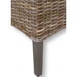 LioLiving®, Esszimmerstuhl aus Rattangeflecht in grau (#400086)