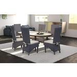 6x Rattanstühle PACIFIC - Rattanmöbel - Esszimmerstühle Grau inkl. Sitzkissen