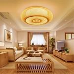 WAWZW Deckenlampe Japanische Bambus Rattan Töpferei kreative Deckenleuchte runde LED-für das Schlafzimmer, Wohnzimmer, Arbeitszimmer, Balkon, Eingang, Gang, 40 * 12 CM