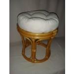 Rattan Hocker NEU in der Farbe honig mit Polster (Papasanhocker)