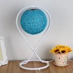 LILY Einfache moderne kreative Rattan Tischlampe - Schlafzimmer Nachttisch Mode Romantische Kunst Wohnzimmer Dekoration Geschenk Tischlampe E27 * 1 ( Color : Blue )