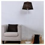 TangMengYun Moderne LED-Stehlampe, Eisen-Standard-Lampe für Wohnzimmer Schlafzimmer Nachttischlampe, Fashion Stehleuchte mit Fußschalter ( Color : Brown-D32*H149CM )