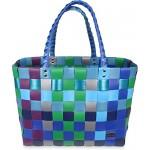 Einkaufstasche geflochten mit Henkeln - Tragetasche extra robust Farbe Classic / Sky