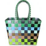 Einkaufskorb Shopper geflochten aus Kunststoff - robuster Strandkorb aus wasserabweisendem Material Farbe Classic / Element